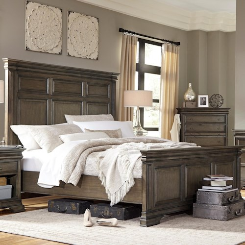 Aspenhome Arcadia King Panel Bed with USB Charging Stations