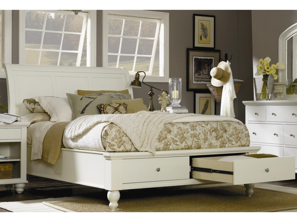 Morris Bedroom Furniture Clinton Queen Size Bed With Sleigh Headboard Drawer Storage