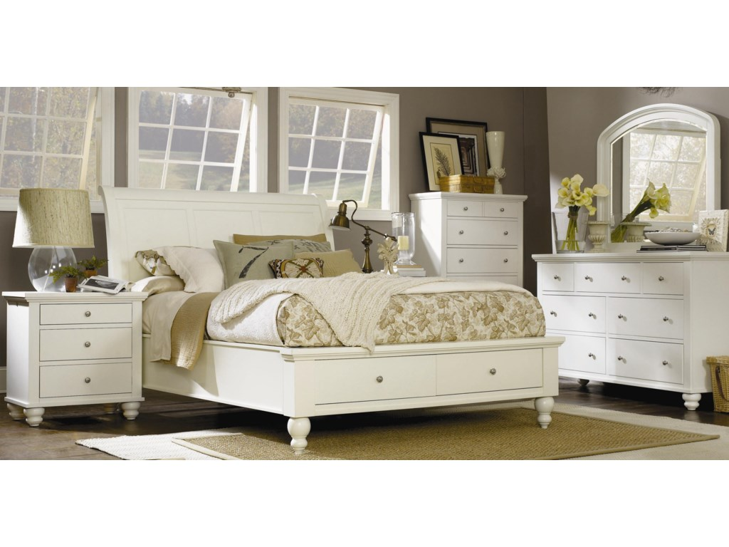 Shown with Storage Sleigh Bed, Chest, Dresser, and Mirror