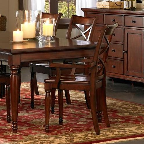 Featured with server, dining table, and side chairs