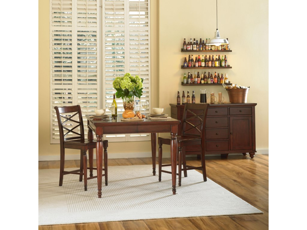 Shown with Counter Height Table & 2 Counter Height Chairs