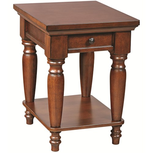 Aspenhome Cambridge Chairside Table with 1 Drawer