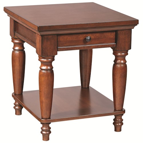 Morris Home Furnishings Clinton End Table with AC Outlets