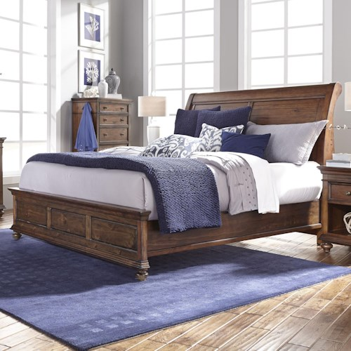 Morris Home Furnishings Camden California King Sleigh Bed with Low Profile