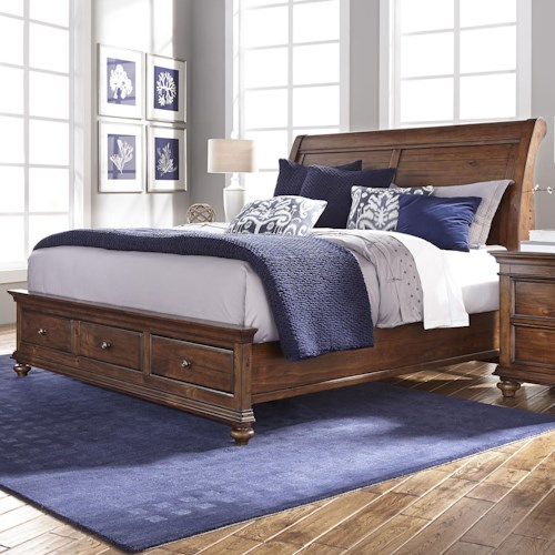 Morris Home Furnishings Camden California King Sleigh Bed with Storage