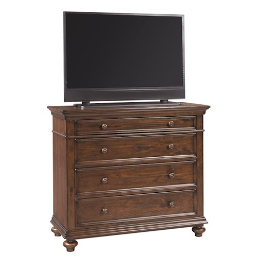 Morris Home Furnishings Camden 4 Drawer Liv360 Entertainment Chest