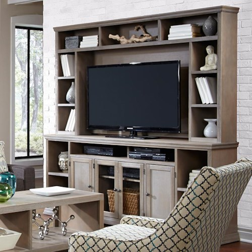 Aspenhome Canyon Creek 84-Inch Entertainment Console and Hutch