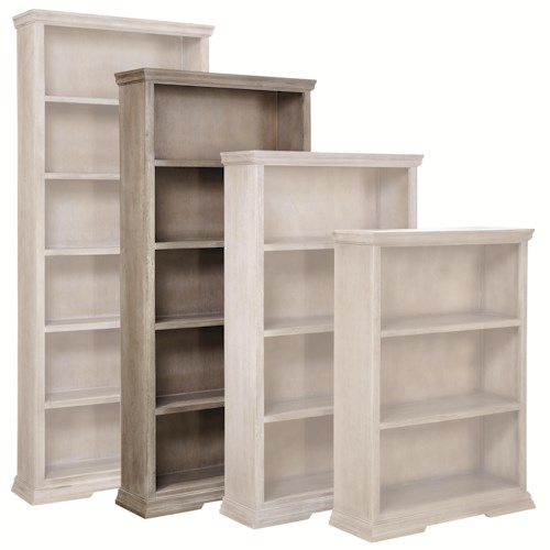 Morris Home Furnishings Calabasas 72-Inch Bookcase with 4 Fixed Shelves