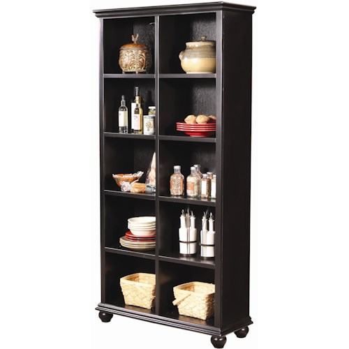 Morris Home Furnishings Casual Traditional 77-Inch Cube Bookcase