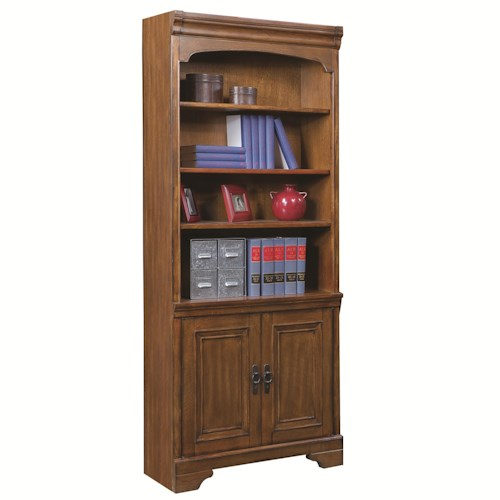 Aspenhome Centennial Bunching Door Bookcase with 3 Shelves
