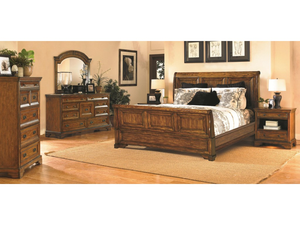 Shown with Drawer Chest, Dresser, Mirror and Sleigh Bed