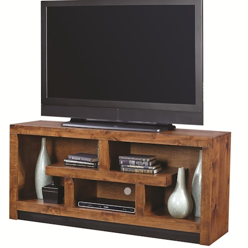 Morris Home Furnishings Alder Woods 60 Inch Console with Geometric Design