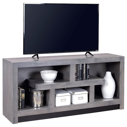 Morris Home Furnishings Contemporary Alder 60 Inch Console with Geometric Design