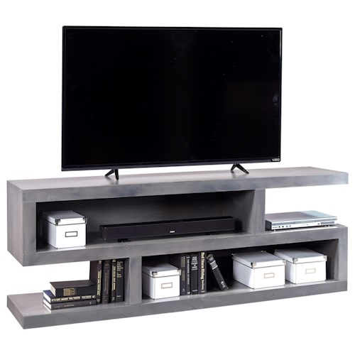 Aspenhome Contemporary Alder 74 Inch Open Console with 4 Compartments