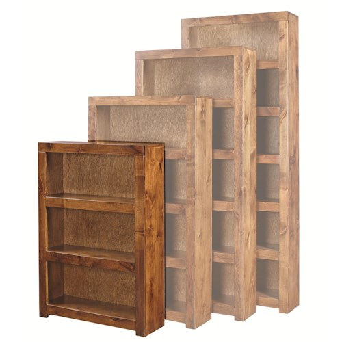 Aspenhome Contemporary Alder 48 Inch Bookcase with 2 Shelves