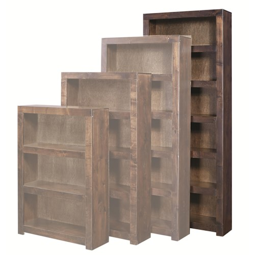 Aspenhome Contemporary Alder 84 Inch Bookcase with 5 Shelves