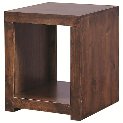 Morris Home Furnishings Contemporary Alder End Table with Open Compartment