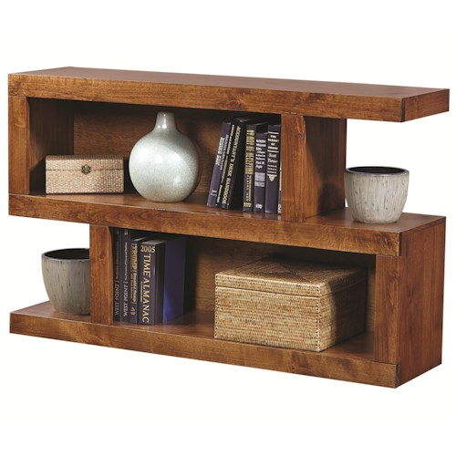 Aspenhome Contemporary Alder S Console Table with 4 Compartments
