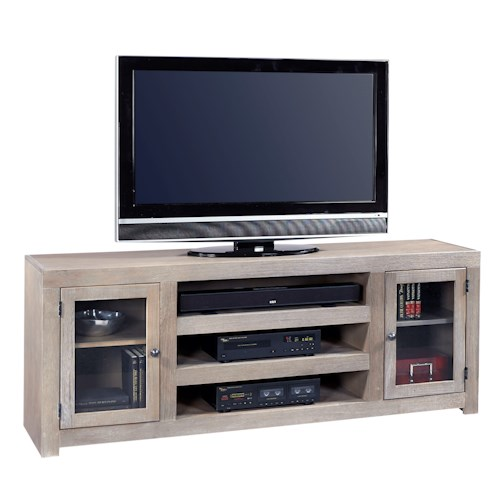 Morris Home Furnishings Contemporary Driftwood 72 Inch Console with 2 Doors