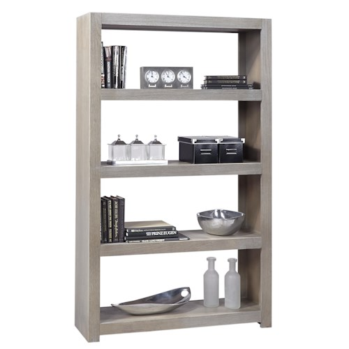 Aspenhome Contemporary Driftwood Room Divider with 4 Shelves
