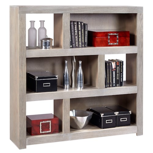 Morris Home Furnishings Contemporary Driftwood 49 Inch Cube wth 2 Shelves
