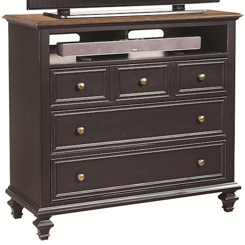 Aspenhome Ravenwood Entertainment Chest with 3 Drawers and 1 Shelf