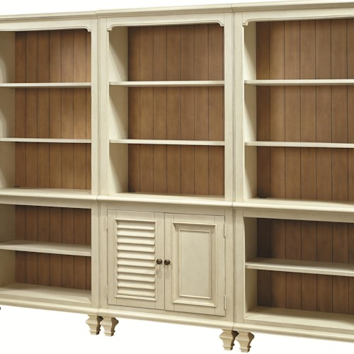 Aspenhome Cottonwood Bookcase with 2 Reversible Panel Doors and 3 Adjustable Shelves