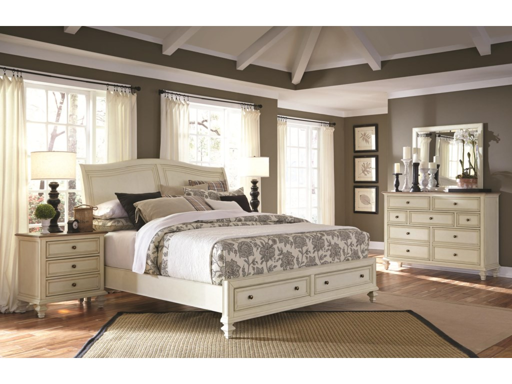 Shown with Storage Footboard Drawer Closed