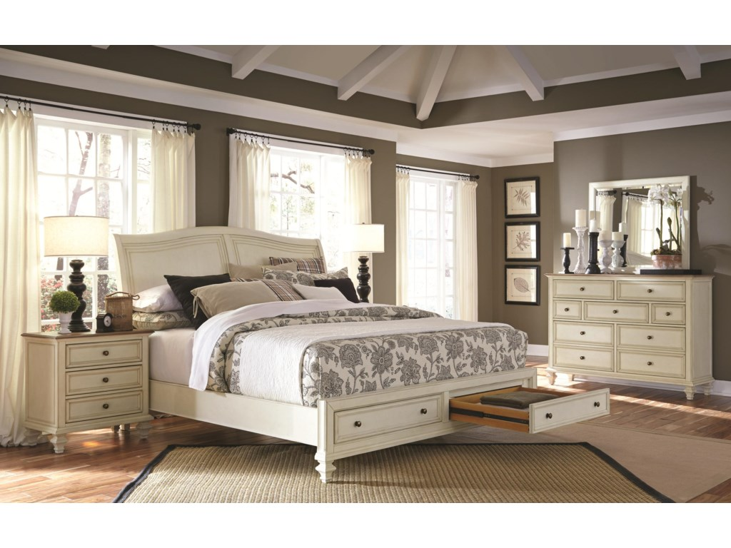 Shown with Storage Footboard Drawer Open