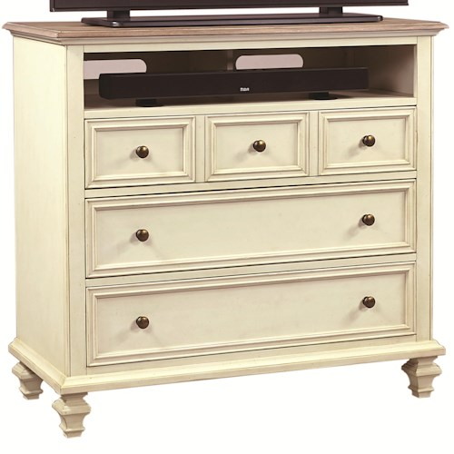 Aspenhome Cottonwood Entertainment Chest with 3 Drawers and 1 Shelf