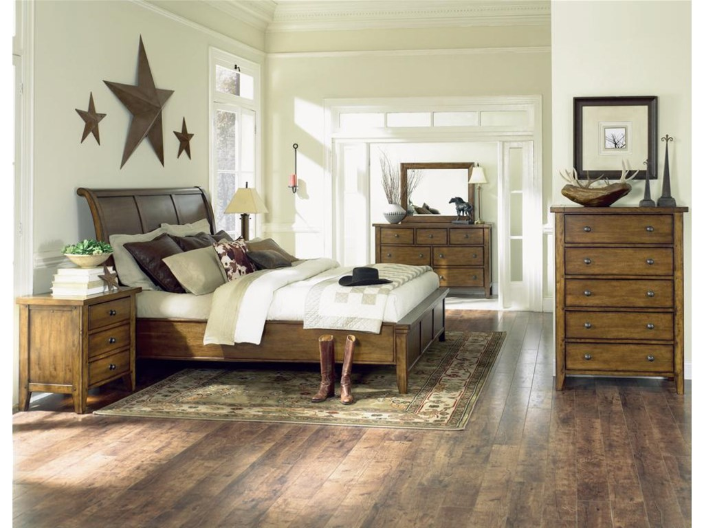 Shown with Sleigh Bed, Dresser, Mirror, and Chest