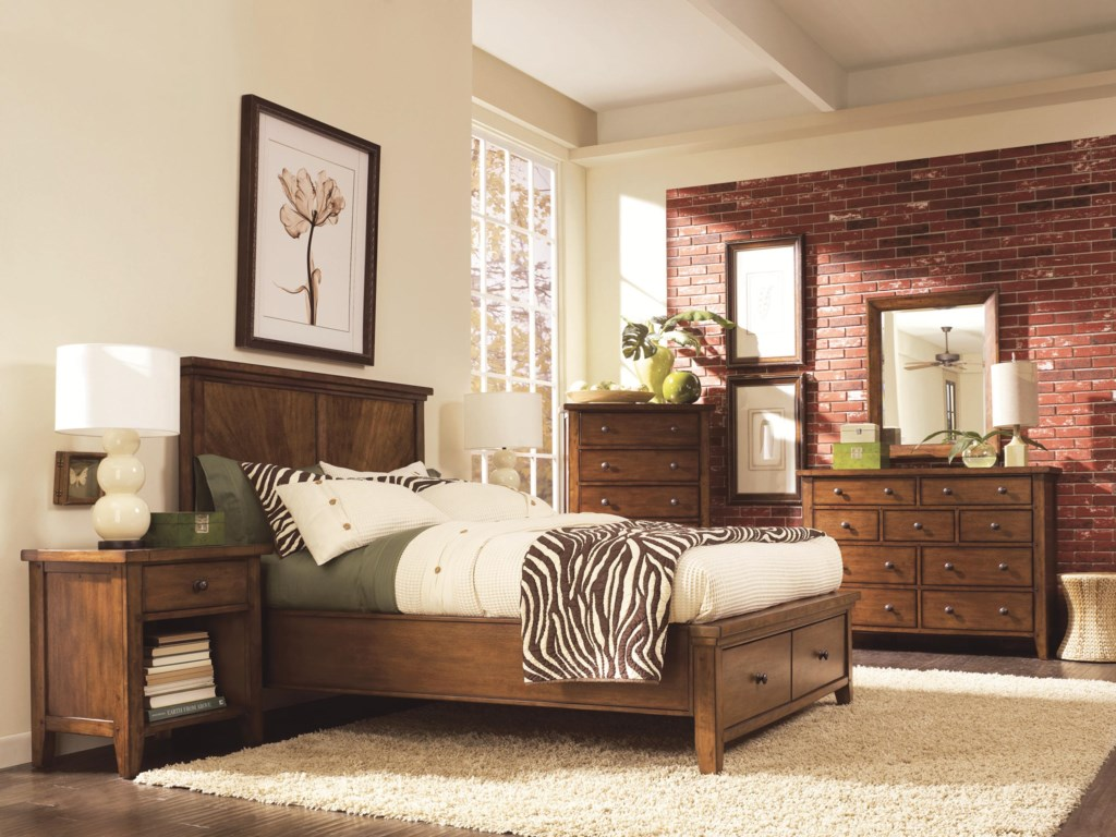 Shown with Panel Bed, Chest, Dresser, and Mirror