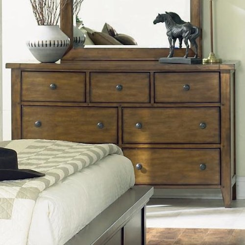 Aspenhome Cross Country Seven Drawer Dresser