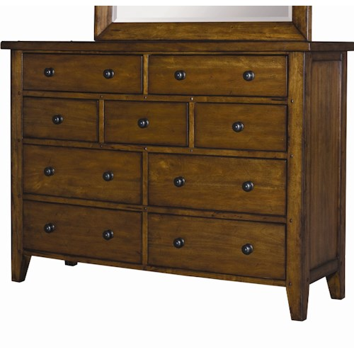 Aspenhome Cross Country Nine Drawer Chesser
