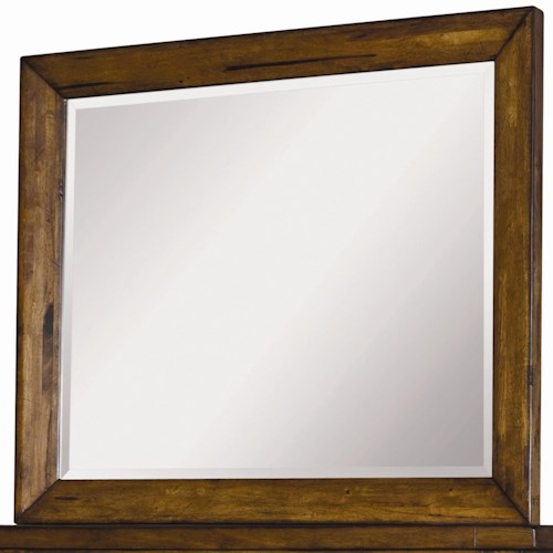Morris Home Furnishings Cross Country Mirror with Beveled Edge
