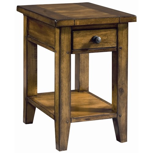 Morris Home Furnishings Cross Country Chairside Table with One Drawer & One Shelf
