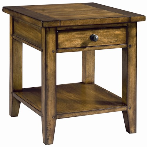 Morris Home Furnishings Cross Country End Table with One Drawer & One Shelf