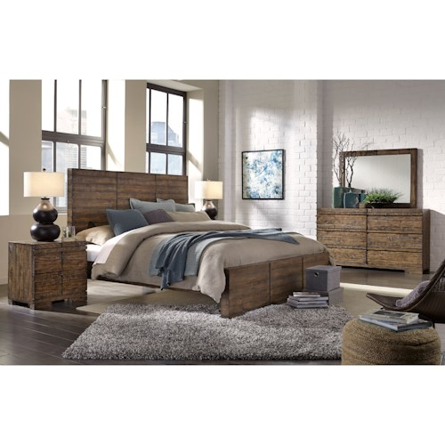 Morris Home Furnishings Dimensions King Bedroom Group