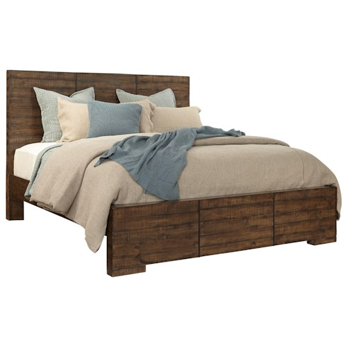 Aspenhome Dimensions Queen Panel Bed with Reclaimed Metal Accents