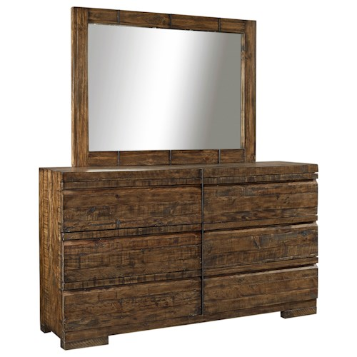 Morris Home Furnishings Dimensions 6-Drawer Dresser and Mirror Set