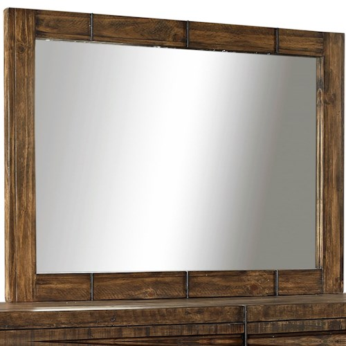 Morris Home Furnishings Dimensions Mirror with Reclaimed Metal Accents