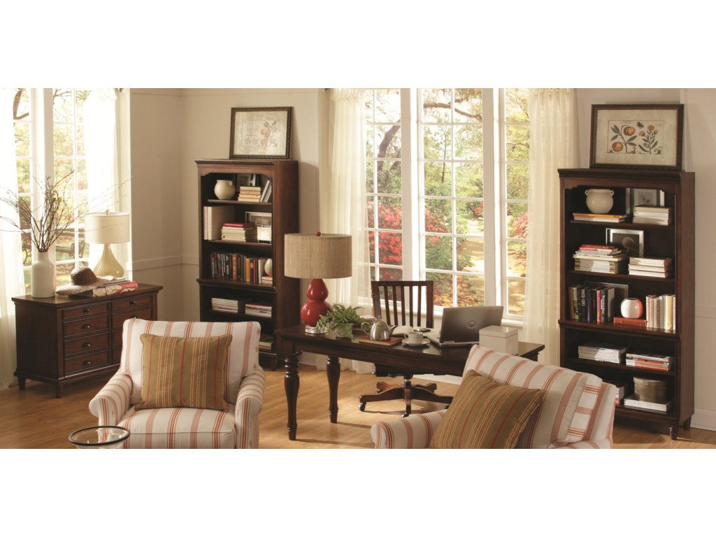 Shown with Open Bookcases, Office Chair, and Combo File