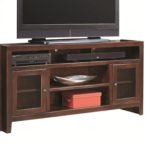 Morris Home Furnishings Essentials Lifestyle 65 Inch Console with 2 Glass Doors