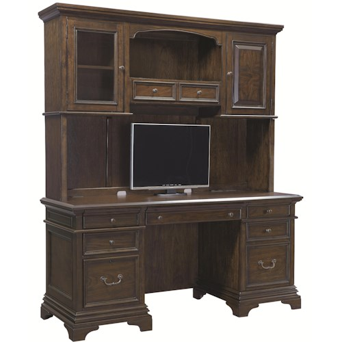 Aspenhome Essex Credenza and Hutch with 5 Drawers