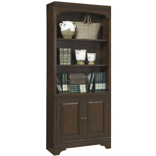 Morris Home Furnishings Addams 2 Door Bookcase with 3 Open Shelves