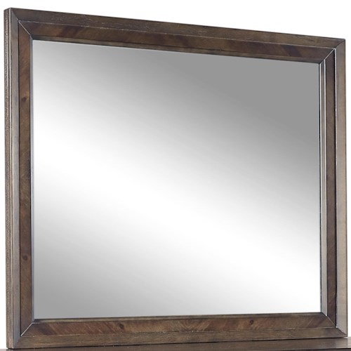 Aspenhome Harper Point Landscape Mirror with Graphite Finished Frame