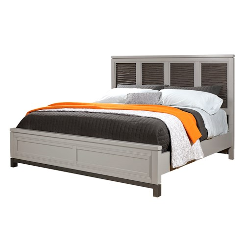 Aspenhome Hyde Park Queen Liquid Fret Panel Bed