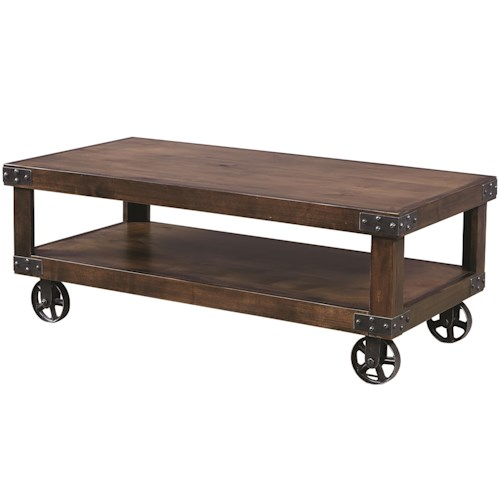 Morris Home Furnishings Davis Cocktail Table with Shelf