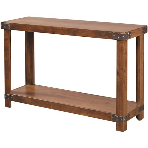 Aspenhome Industrial Sofa Table with Shelf