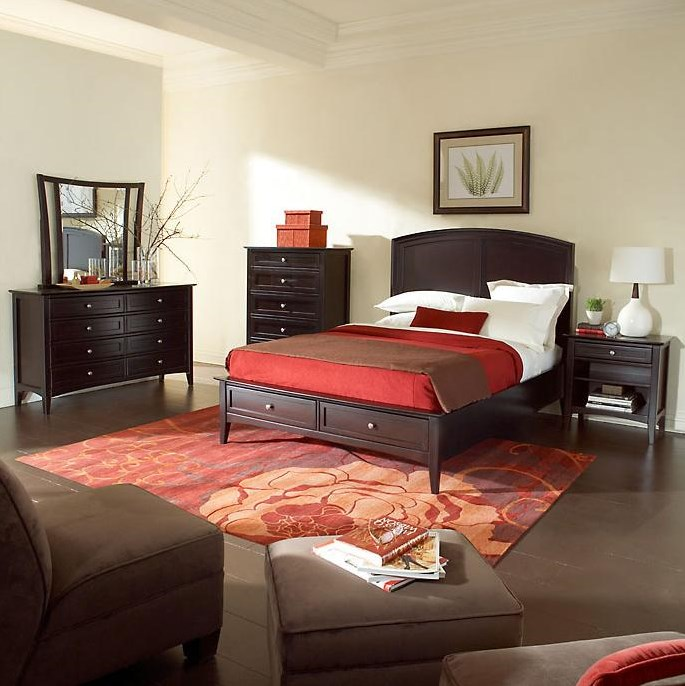 Panel Bed Featured with Night Stand and Dresser - Bed Shown May Not Represent Size Indicated